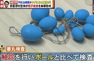 睾丸検査のボール
