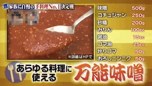 有吉ゼミのグランジ佐藤流万能味噌レシピ